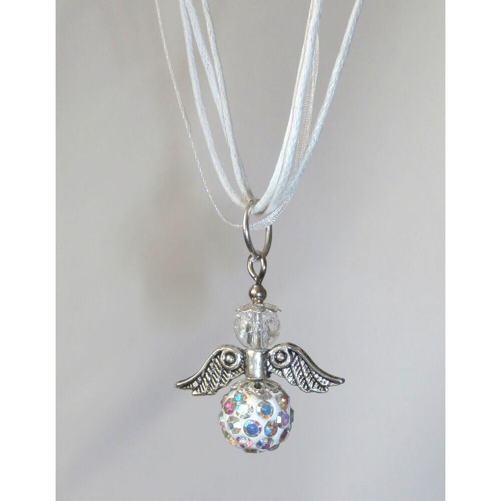 Kristály angyal nyaklánc