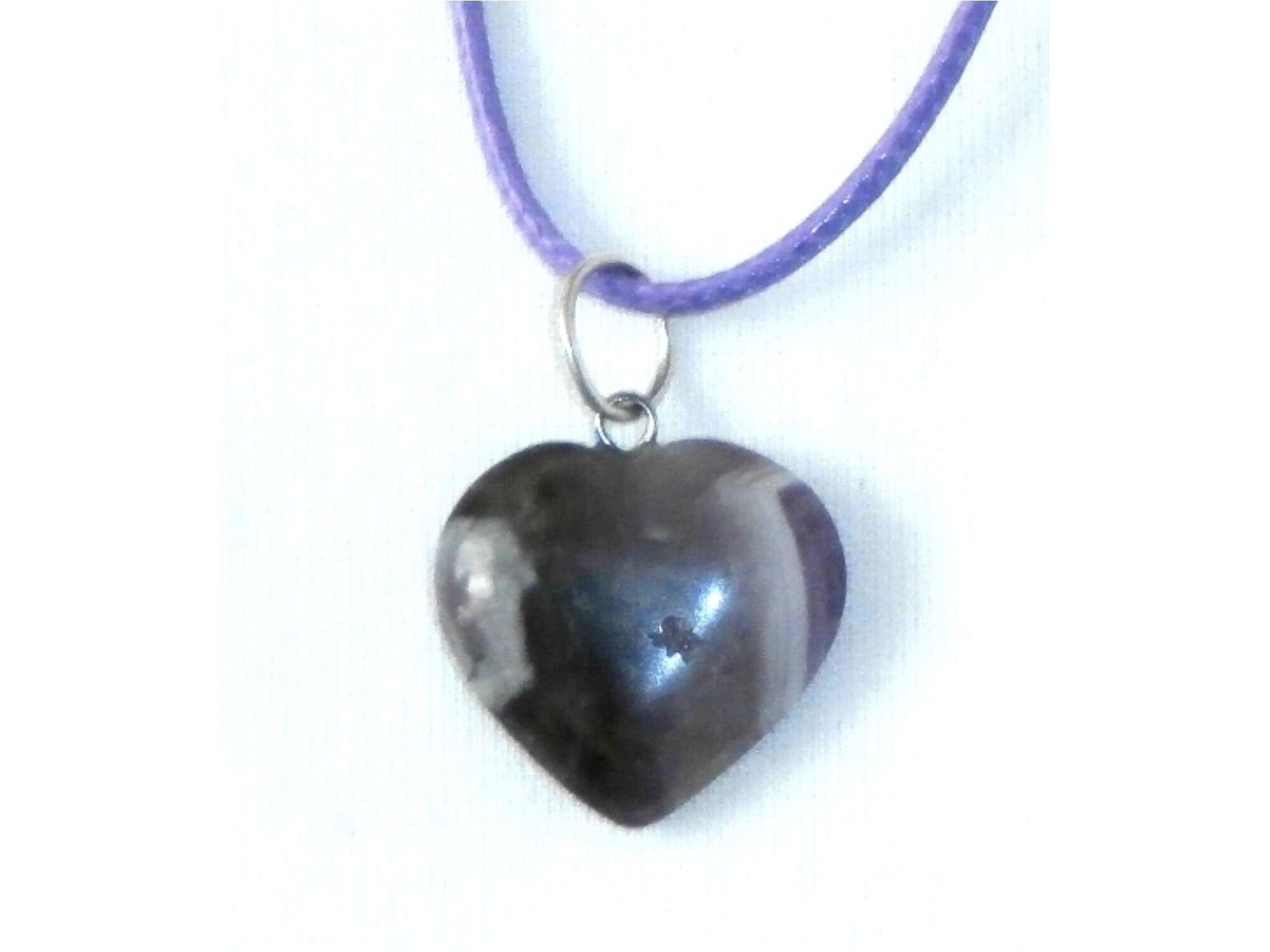 Ametiszt szív medál