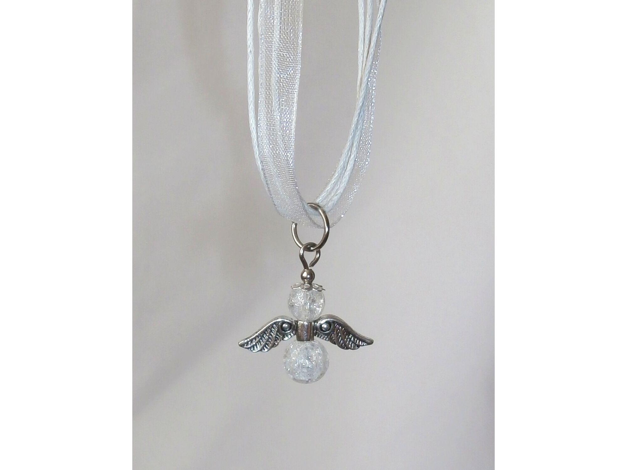 Hegyikristály angyal medál