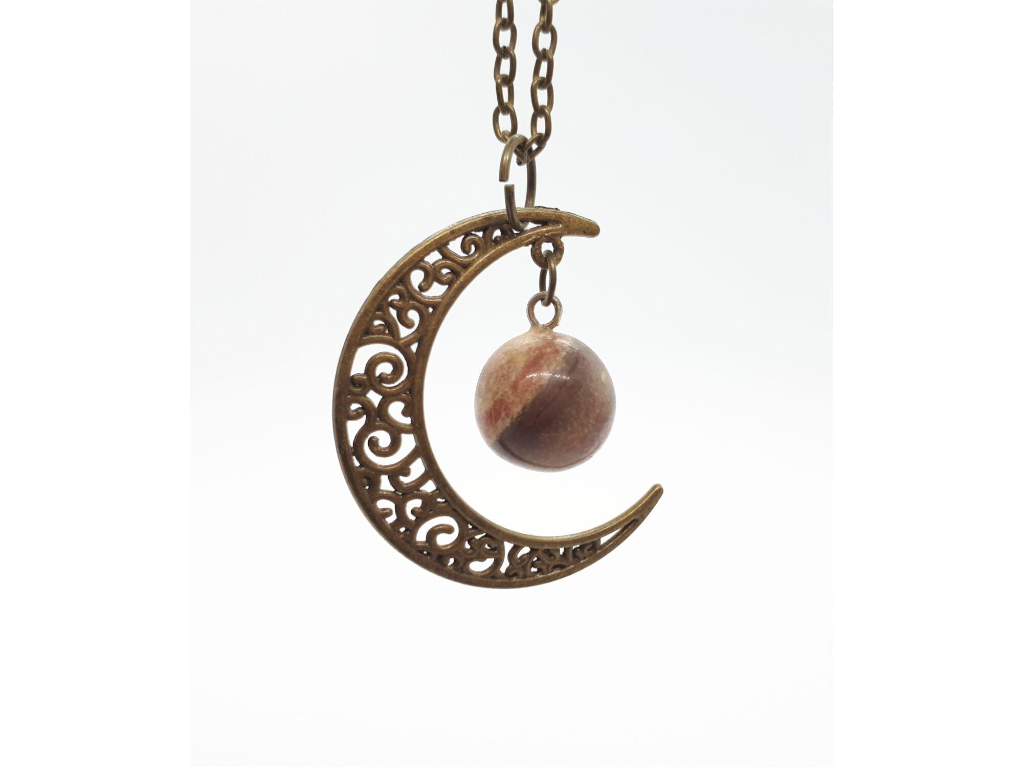 Holdas tájkép jáspis medál