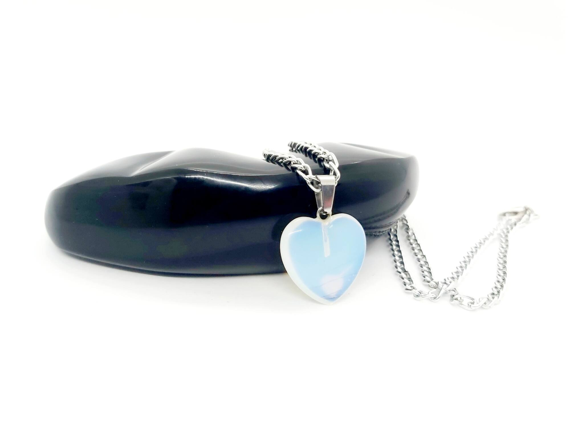 Opalit szív nyaklánc