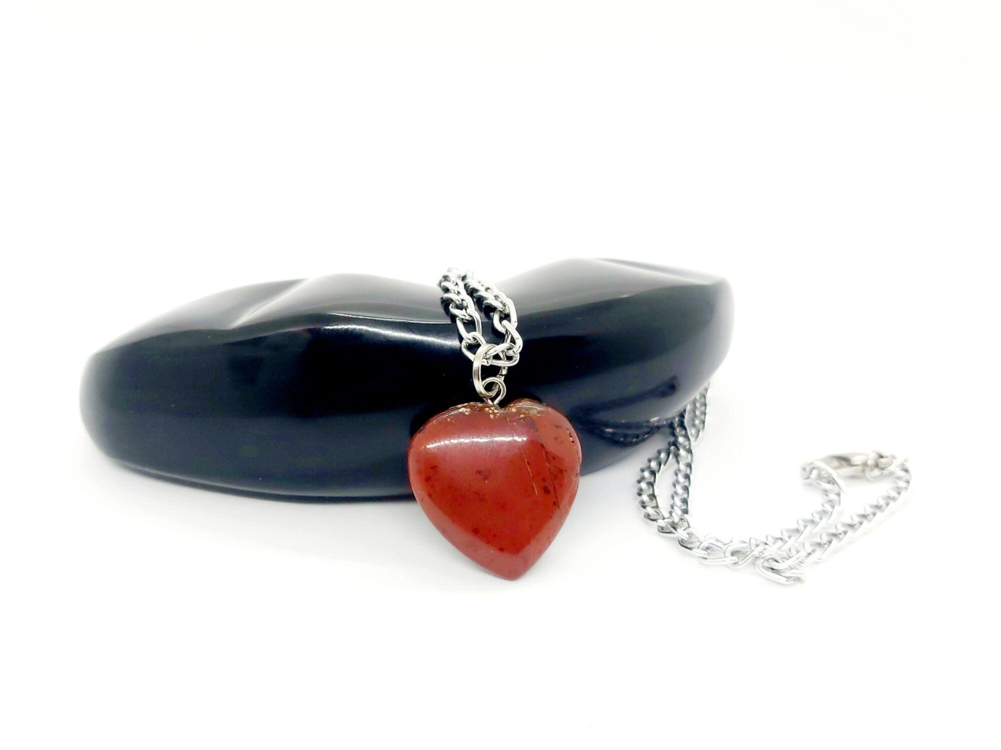 Jáspis szív nyaklánc