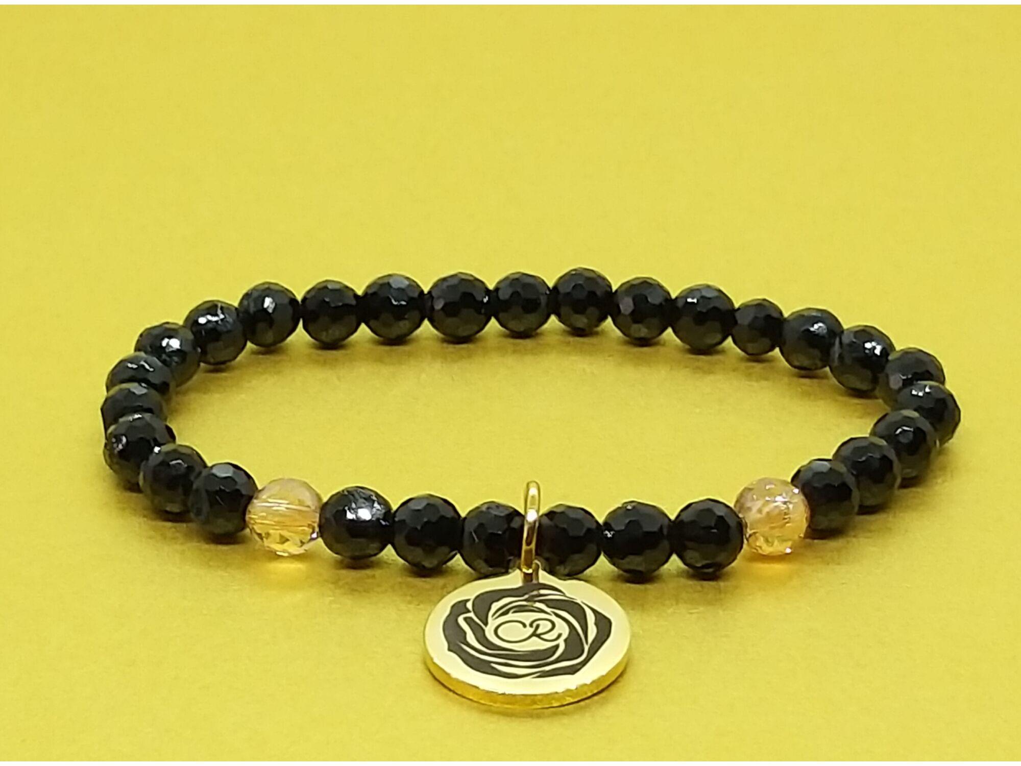 AURA kollekció, fekete turmalin és arany aurakvarc